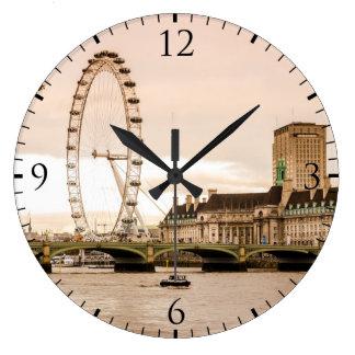 London Eye Sunset Large Clock
