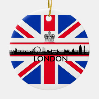 London Eye Union Jack Flag Christmas Ornament