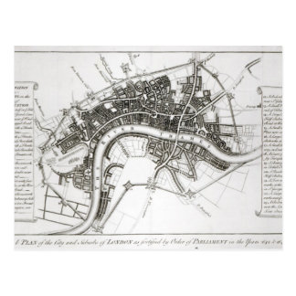 London Fortifications in 1642 and 1643, 1738 Postcard
