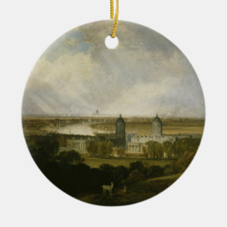 London from Greenwich Park by J M W Turner 1809 Ceramic Ornament