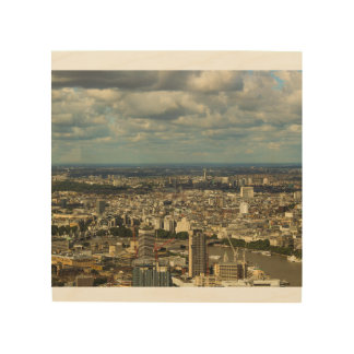 London from the Shard Wood Wall Art