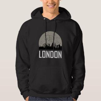 London Full Moon Skyline Hoodie
