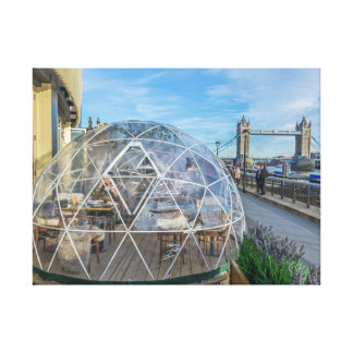 London giant igloo canvas print