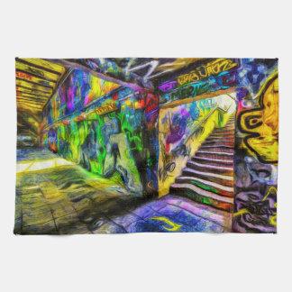 London Graffiti Van Gogh Kitchen Towel