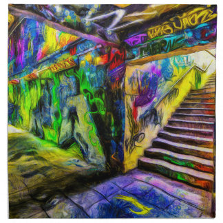 London Graffiti Van Gogh Napkin