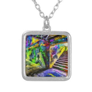 London Graffiti Van Gogh Silver Plated Necklace