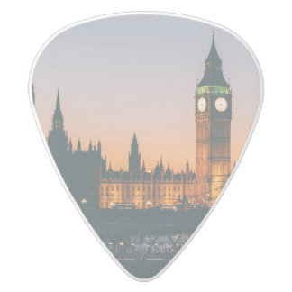 London Guitar Pick White Delrin Guitar Pick