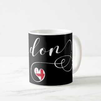 London Heart Mug, England Coffee Mug
