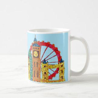 London Icon Building Mozaic Classic White Coffee Mug