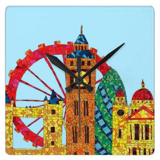 London Icon Building Mozaic Clocks