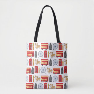 London Icon Collage Tote Bag