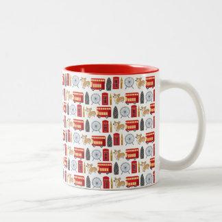 London Icon Collage Two-Tone Coffee Mug