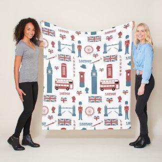 London Icons Fleece Blanket