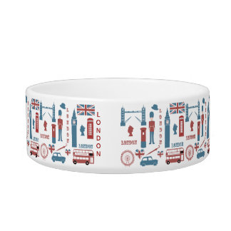 London Icons Retro Love Pet Bowl