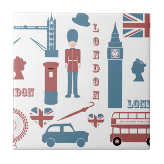 London Icons Retro Love Souvenir ceramic tile