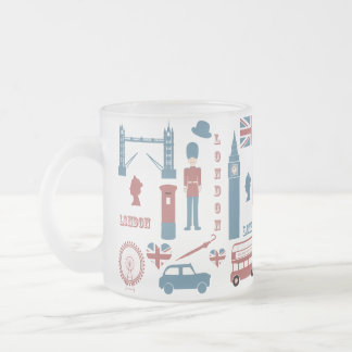 London Icons Retro Love Souvenir glass mug