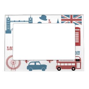 London Icons Retro Love Souvenir magnetic frame