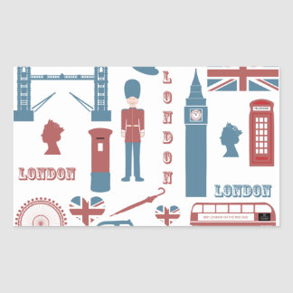London Icons Retro Love Souvenir stickers