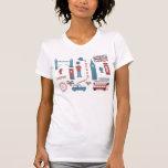 London Icons Retro Love women's white t-shirt