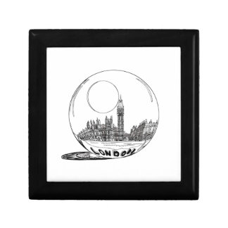 London in a glass ball . gift box