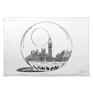 London in a glass ball . placemat