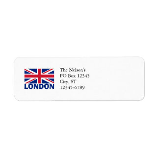 London in Blue Return Address Label