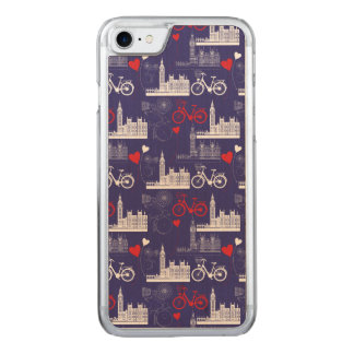 London Landmarks Pattern Carved iPhone 8/7 Case