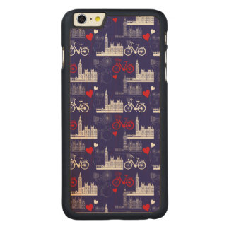 London Landmarks Pattern Carved Maple iPhone 6 Plus Case