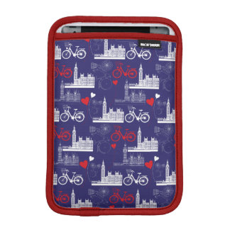 London Landmarks Pattern iPad Mini Sleeve