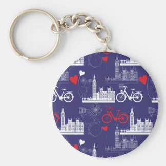 London Landmarks Pattern Keychain