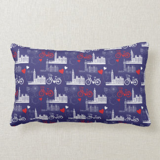 London Landmarks Pattern Lumbar Pillow