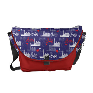 London Landmarks Pattern Messenger Bag