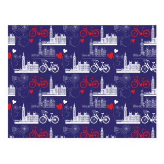 London Landmarks Pattern Postcard