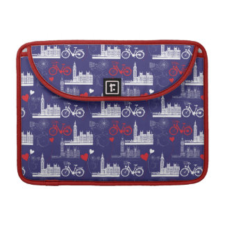 London Landmarks Pattern Sleeve For MacBooks