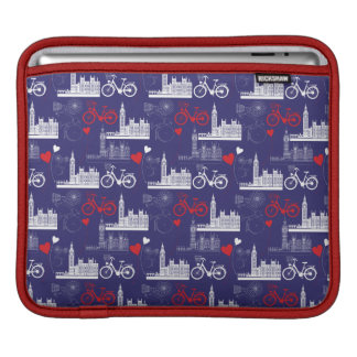 London Landmarks Pattern Sleeves For iPads