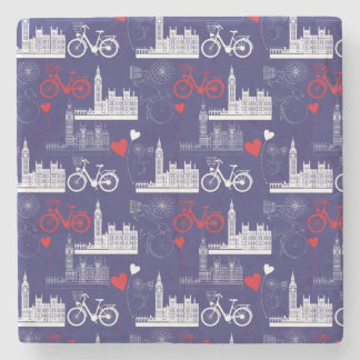 London Landmarks Pattern Stone Coaster