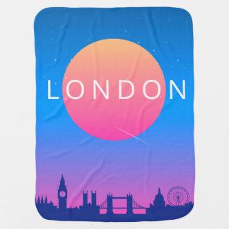 London Landmarks Travel Poster Baby Blanket