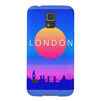 London Landmarks Travel Poster Galaxy S5 Cover
