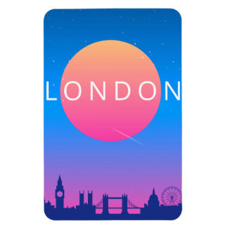 London Landmarks Travel Poster Magnet