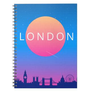 London Landmarks Travel Poster Notebook