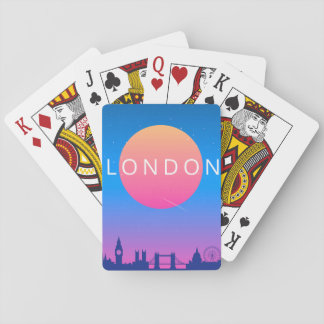 London Landmarks Travel Poster Playing Cards