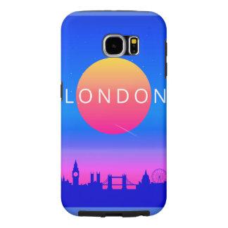 London Landmarks Travel Poster Samsung Galaxy S6 Cases