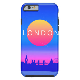 London Landmarks Travel Poster Tough iPhone 6 Case