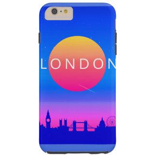London Landmarks Travel Poster Tough iPhone 6 Plus Case