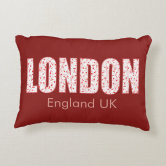 London (London Pride flower pattern, typography) Accent Pillow