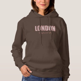 London (London Pride flower pattern, typography) Hoodie