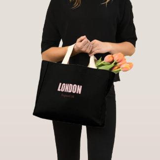 London (London Pride flower pattern, typography) Mini Tote Bag