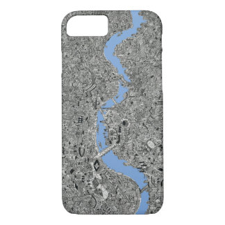 london map hand drawn illustraion thames iPhone 8/7 case