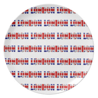 London Melamine Plate