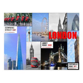 London Montage Postcard